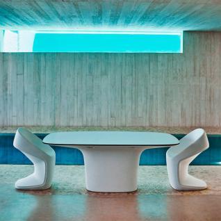 Vondom UFO Gartentisch mit HPL Full White Tischplatte / Weiß • Outdoor Esstisch 200 × 100 cm - Vorschau 5