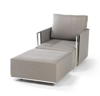 Suite Lounge Sessel 70 x 80 cm mit Hocker von Fischer Möbel