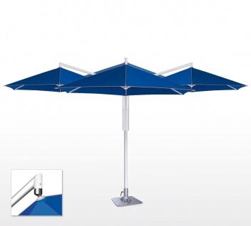 Sonnenschirm Rialto Quattro von May, achteckig 350 cm, Typ RP, mit Volant