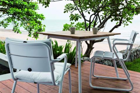 OASIQ REEF Gartentisch 100 x 100 cm • Outdoor Esstisch mit Aluminiumgestell - Vorschau 2