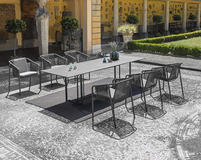 Fischer Möbel Suite Esstisch 260× 95 cm, Gestell Edelstahl geschliffen oder Anthrazit matt beschichtet - Vorschau 2