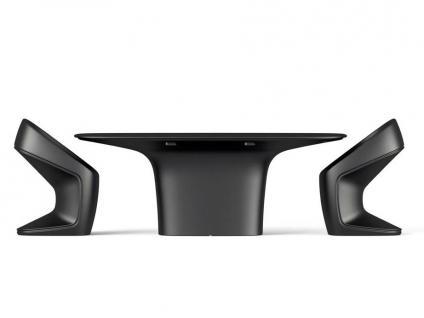 Vondom UFO Gartentisch mit HPL Full White Tischplatte / Weiß • Outdoor Esstisch 200 × 100 cm - Vorschau 3
