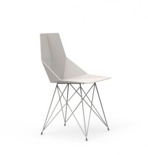 Vondom Faz Essstuhl mit Edelstahlfüßen • Kunststoff-Sitzschale