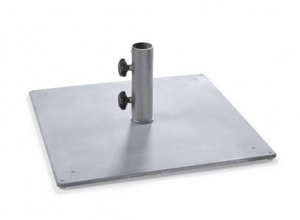 Weishäupl Bodenplatte aus Stahl, quadratisch, 35 kg, Ø 40 mm