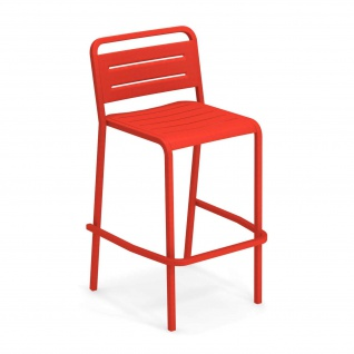 2 Stück • Emu Urban Barstühle • Outdoor Barhocker 56 cm • Aluminium, beschichtet
