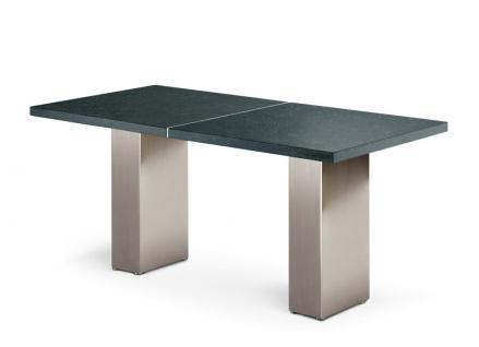 Gartentisch Cima Dining Doble 160 cm rechteckig mit Keramik- bzw. Blaustein Tischplatte von FueraDentro