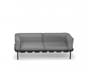 Emu Dock 2er Loungesofa • Aluminium / Acrylstoff • inklusive Polster (niedrig)