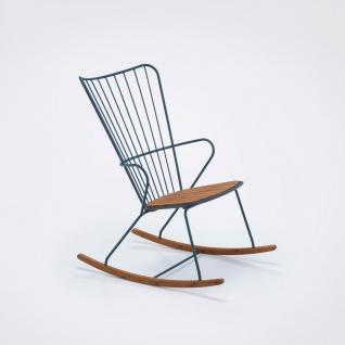 Houe Paon Schaukelstuhl mit Metallgestell • Sitzfläche aus Bambuslamellen