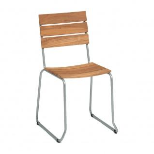 Weishäupl Balcony Stuhl • Belattung aus Teakholz