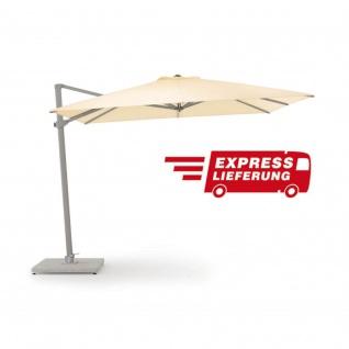 Freiarm Sonnenschirm von Weishäupl quadratisch 300 x 300 cm - Express Lieferung