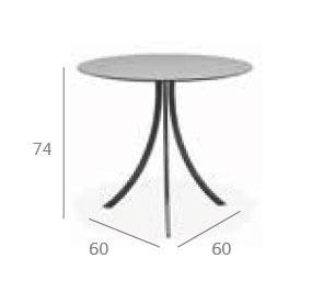 Expormim Bistro Gartentisch rund Ø 70 oder 80 cm - Vorschau 2