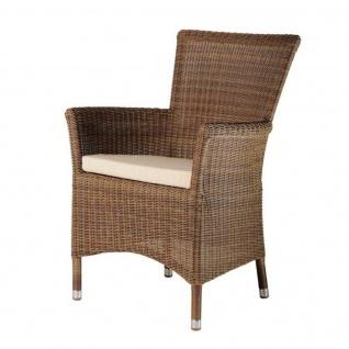 Alexander Rose San Marino Gartenstuhl mit eckiger Rückenlehne inkl. Sitzkissen