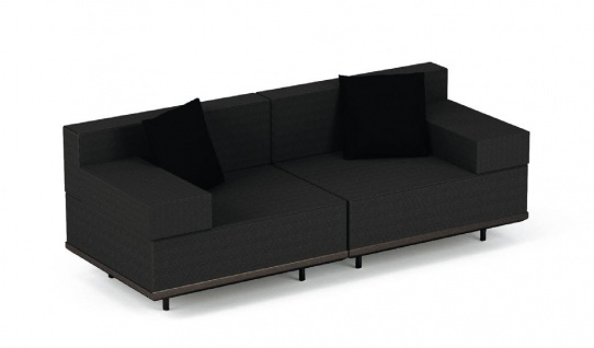 Royal Botania Red Label Lazy Lounge-Set 02 inkl. Dekokissen