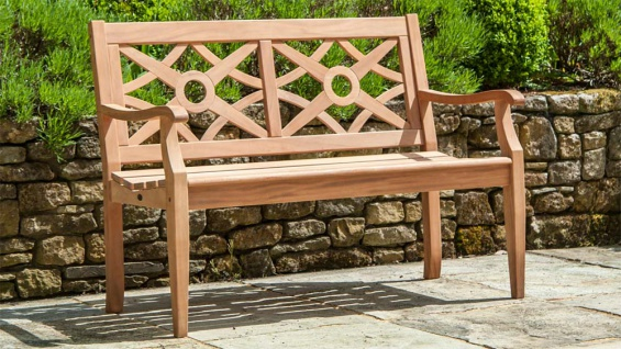 Alexander Rose Mahagoni • Gartenbank Heritage Zweisitzer 121 cm - Vorschau 2