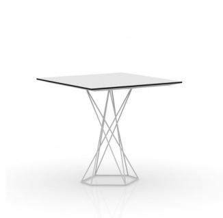 Vondom Faz Gartentisch quadratisch 70/80/90/100 cm, HPL Full White