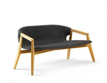 Ethimo Knit Loungesofa aus Teakholz