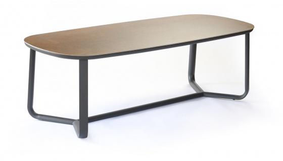 Ego Paris Marumi Esstisch 240 x 98 cm mit Aluminium-, Teak- oder Keramiktischplatte