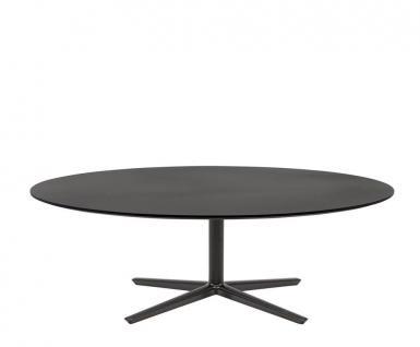 Andreu World Quattro Outdoor Beistelltisch H40 cm mit Glas Tischplatte • Gestell 60 × 60 cm • verschiedene Größen