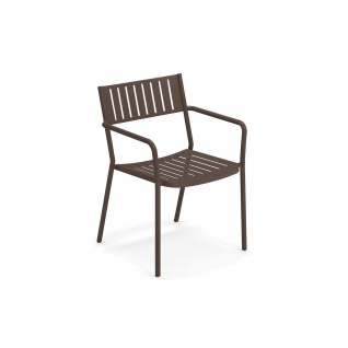 4 Stück • Emu Bridge Gartenstühle • Armlehnstühle mit Metall Sitzschale, stapelbar