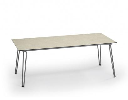 Weishäupl Slope Gartentisch mit Edelstahlgestell • Outdoor Esstisch 200 × 90 cm