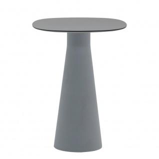 Andreu World Reverse Outdoor Bartisch mit Glas Tischplatte • Gestell Ø 42 cm • verschiedene Größen