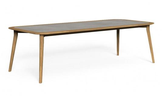 Talenti MOON Teak Gartentisch 260 cm • Esstisch mit HPL Tischplatte