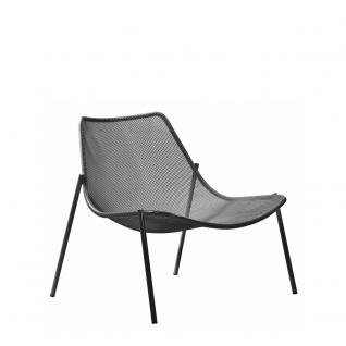 2 Stück × Emu Round Loungesessel mit Streckmetall Sitzschale, stapelbar