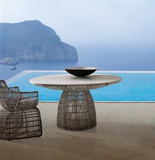 B&B Italia Crinoline Outdoor Sessel mit Polyethylenfasergeflecht 102 cm - Vorschau 5