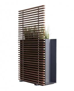 conmoto Sotomon Pflanzgefäß mit Rankgitter • Sichtschutz Modul 150 × 37 cm