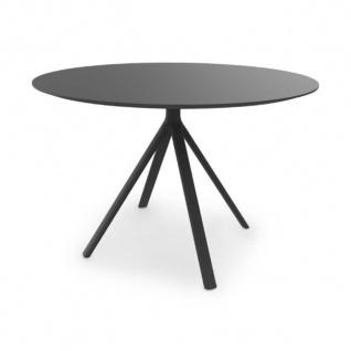 Lapalma Fork Gartentisch Ø 110 cm rund / 2 verschiedene Tisch-Höhen zur Auswahl