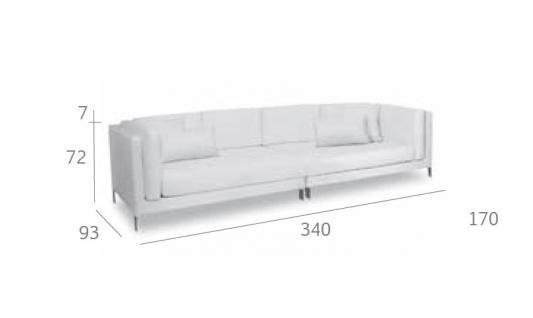 Expormim Slim Loungesofa 340 cm