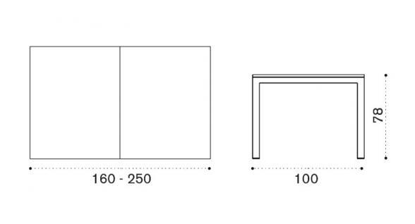Ethimo Flat Gartentisch ausziehbar 160-250 cm - Vorschau 2