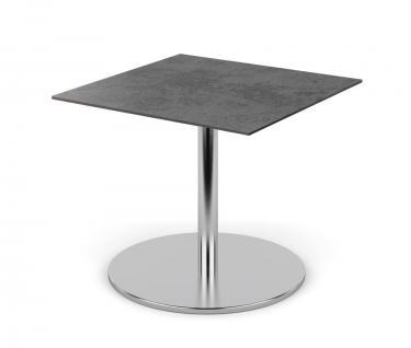 Fischer Möbel Bistrotisch Swing, nicht abklappbar 100 × 100 cm