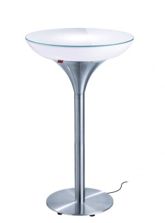 Moree Stehtisch Lounge M Outdoor H105 cm inkl. Glasplatte Ø 60 cm