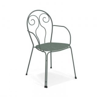 4 Stück • Emu Caprera Gartenstühle • Outdoor Armlehnstuhl 54 cm • Stahl, beschichtet