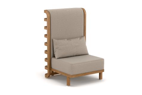 YACHTLINE LAGOON • Loungesessel mit hoher Rückenlehne Outdoor Thron 78 cm