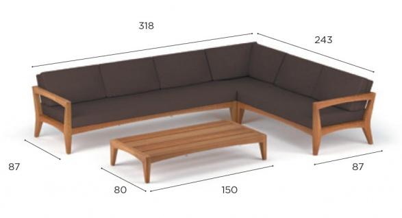 Royal Botania Zenhit Lounge-Set 04 mit Kissen in Standardfarben