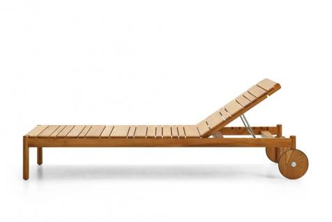 Varaschin Barcode Sonnenliege 209 cm mit Teakholzgestell, rollbar exkl. Polster (Bezug nicht abnehmbar)