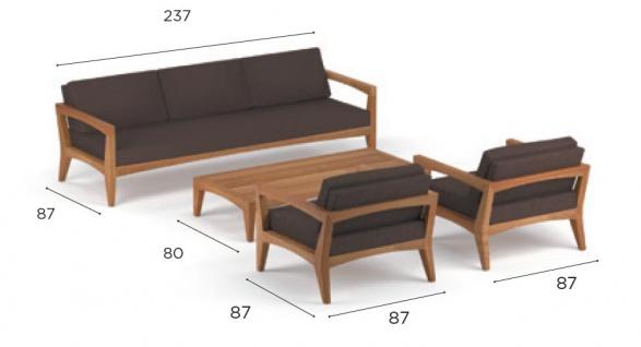 Royal Botania Zenhit Lounge-Set 02 mit Kissen in Standardfarben