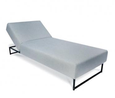 Fischer Möbel Flora Lounge Sonnenliege 200 × 85 cm mit Edelstahlgestell