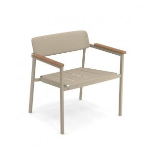 Emu Shine Loungesessel • 2 Stück • Gartensessel aus Aluminium / Teakholz