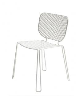 4er-Set • Emu Ivy Gartenstuhl mit Streckmetall Sitz- und Rückenfläche, weiß