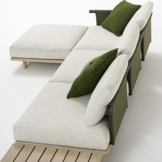 Roda Eden 3-er Gartensofa Mittelmodul • Loungemodul 003 + 013 • 285 × 100 cm
