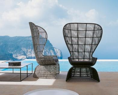 B&B Italia Crinoline Outdoor Sessel mit Polyethylenfasergeflecht 102 cm - Vorschau 4