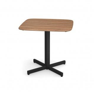Emu Shine Gartentisch 79 cm konfigurierbar • Outdoor Bistrotisch aus Aluminium / Teakholz / HPL - Vorschau 3