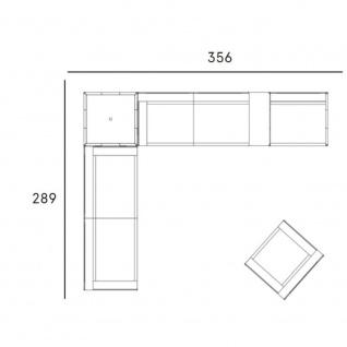 Fast New Joint Lounge-Sofa-Garnitur 356 cm: 2 x Sessel, 2 x Sofa, 1 x Tisch und 1 x Ablagefläche
