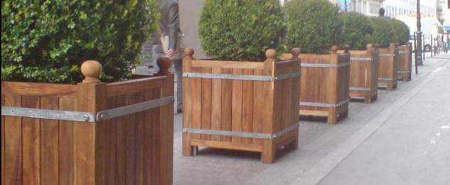Orangerie Pflanzkübel Teakholz massiv (verschiedene Größen) - Vorschau 4