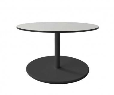 Cane-line Go Loungetisch   Gestell Ø 60, mit HPL Tischplatte Ø 70 cm