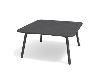 Roda Piper Loungetisch, mit Teak-, HPL, oder Steinplatte 80 cm