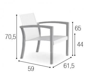 Royal Botania XQI Lounge Sessel, stapelbar - Vorschau 2